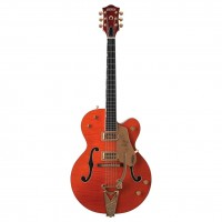 Gretsch G6120 Chet Atkins Hollow Body Flame Elektro Gitar