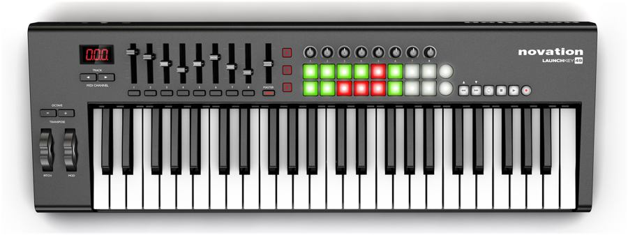 novation launchkey49 midi klavye
